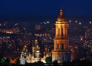 Kyiv Pechersk Lavra at night